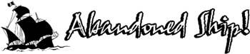 'Abandoned Ship' boat lettering vinyl decal. Customize on line. GA01V003