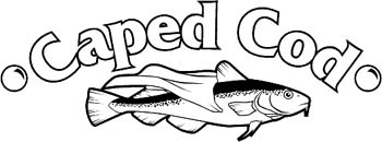 'Caped Cod' boat lettering vinyl graphic decal personalized on line. GA01V008