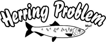 'Herring Problem' boat lettering vinyl sticker customized on line. GA01V023