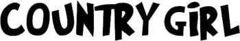 'Country Girl' boat lettering vinyl sticker. Customize on line. GA01V078