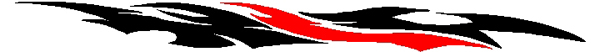 Eagle Flight two color stripe vinyl decal. 22033
