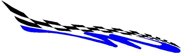 Breathtaking checks and stripe vinyl decal 3059