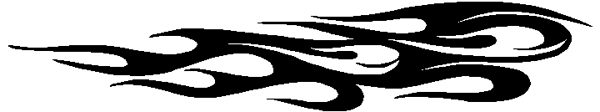 Wild Stripes of flames vinyl decal. 3074