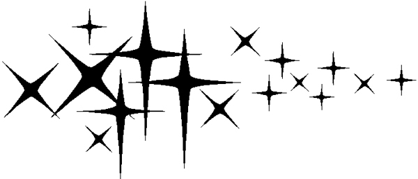 Star stripes vinyl decal. 3078