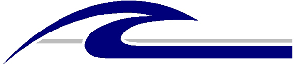 Catch the Wave two color stripe vinyl decal. 3086