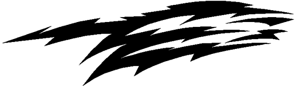 Edgy stripe vinyl decal 3104