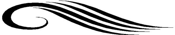 Curved II stripes vinyl sticker. 3106