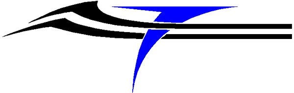 Interesting two color stripes vinyl decal. 3212