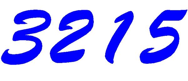 Numbers vinyl decal 3215