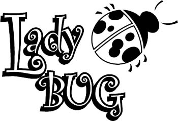 'Lady Bug' boat lettering vinyl graphic decal. Personalize as you order. GA01V026