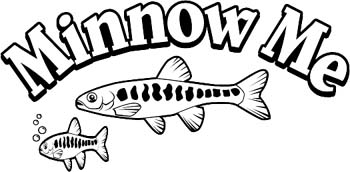 'Minnow Me' boat lettering vinyl decal. Customize on line. GA01V033