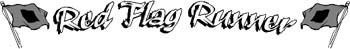 'Red Flag Runner' boat lettering vinyl decal customized on line. GA01V039