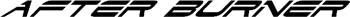 'After Burner' boat lettering vinyl decal customized on line. GA01V061