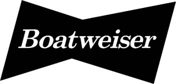 'Boatweiser' boat lettering vinyl graphic sticker. Personalize on line. GA01V069