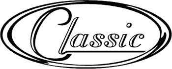 'Classic' boat lettering vinyl graphic sticker. Personalize on line. GA01V166