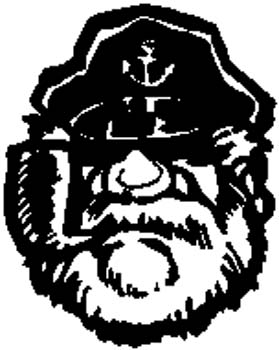 Ship Captain with Pipe decal by SignSpecialist.com