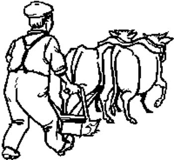 Farmer Plowing decal by SignSpecialist.com