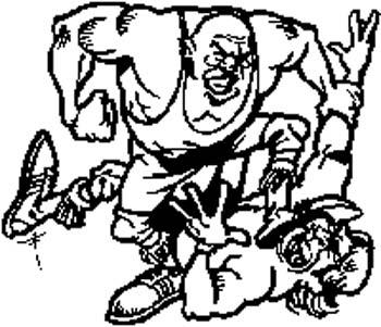167 Two men fighting vinyl decal customized online.
