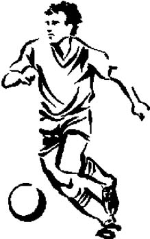 170 Soccer player vinyl decal. Customize on line.