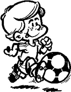 179 Little boy playing soccer vinyl decal customized online.