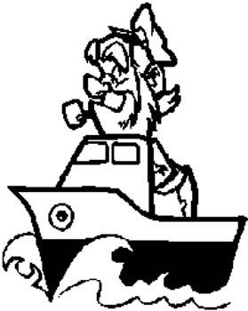 18 Tug Boat Captain vinyl decal customized online.