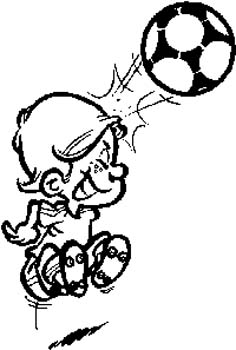 180 Boy playing soccer vinyl decal customized online.
