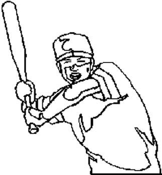 183 Baseball Batter vinyl sticker customized online.