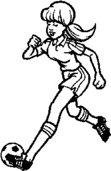 190 Girl playing soccer vinyl decal customized online.