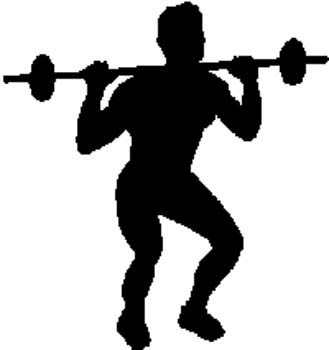 196    Weightlifter silhouette vinyl decal customized online.
