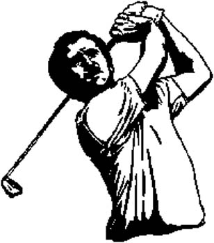 199 Golfing action vinyl decal customized online.