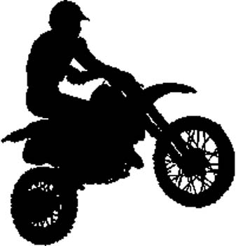 Motorcycle rider vinyl sports sticker. Personalize on line. 215