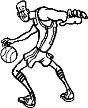 222 Basketball player dribbling ball vinyl sticker customized online.
