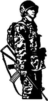 283 Military Man vinyl sticker customized online.