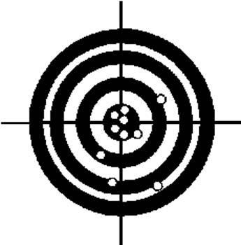 289   Bullseye for target practice vinyl decal customized online.