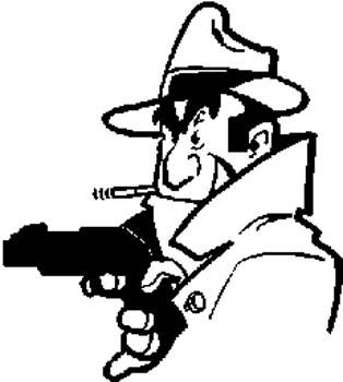 290 Bad guy with gun vinyl sticker customized online.