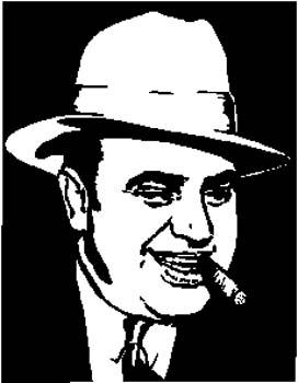 295   Man smoking a cigar vinyl decal customized online.