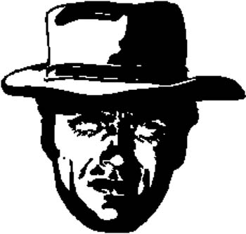 297 Cowboy Outlaw vinyl sticker customized online.