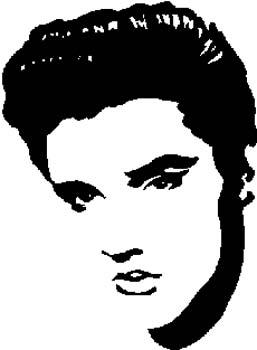 298 Elvis head vinyl decal customized online.
