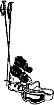 317 Snow skiing equipment vinyl decal customized online.