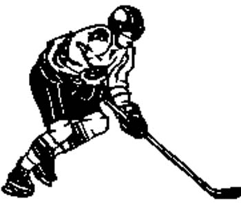 sports22 - Hockey player vinyl sticker customized on line.