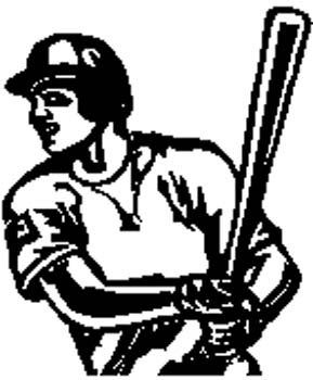 sports26 - Baseball player vinyl decal customized on line.