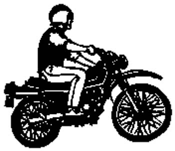 sports3 - Motorcycle and rider vinyl decal customized on line.