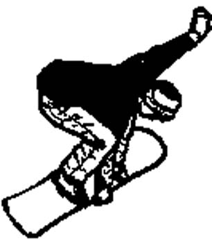 sports4 - Snowboarder action vinyl decal. Personalize on line.