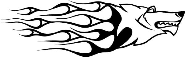 Animal Flames vinyl decal. Customize on line. animal-flames-0017b