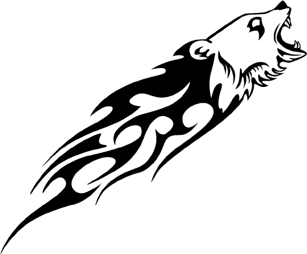 Flaming Grizzly Head Mascot vinyl graphic decal. Customize on line as you order. animal-flames-0027b