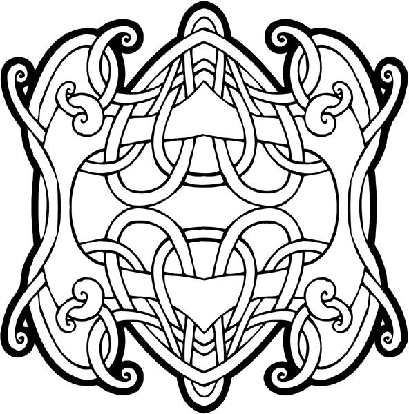Celtic symbol vinyl graphic sticker. Personalize on line. celtic-decal-co_0008w