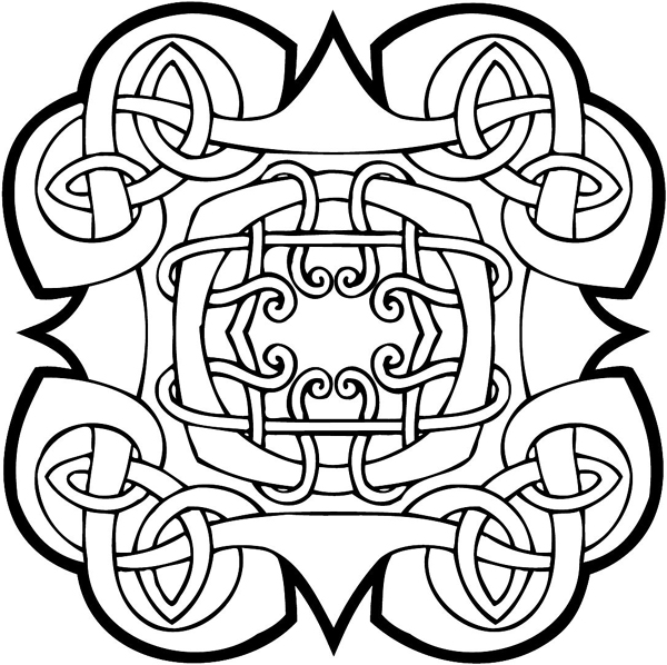 Ornate Celtic Emblem vinyl sticker. Customize on line. celtic-decal-co_0011w