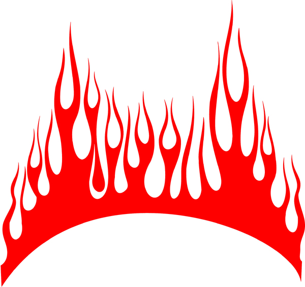 Signspecialist Com Hood Decals Flames Decal Cf 042