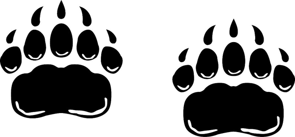 Bear paws speak for your team mascot vinyl sports sticker. Customize as you order. Bear Paws