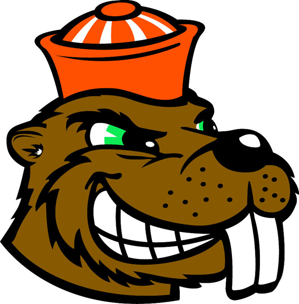 Beaver head team mascot color vinyl sports sticker. Customize on line. Beaver Head 1